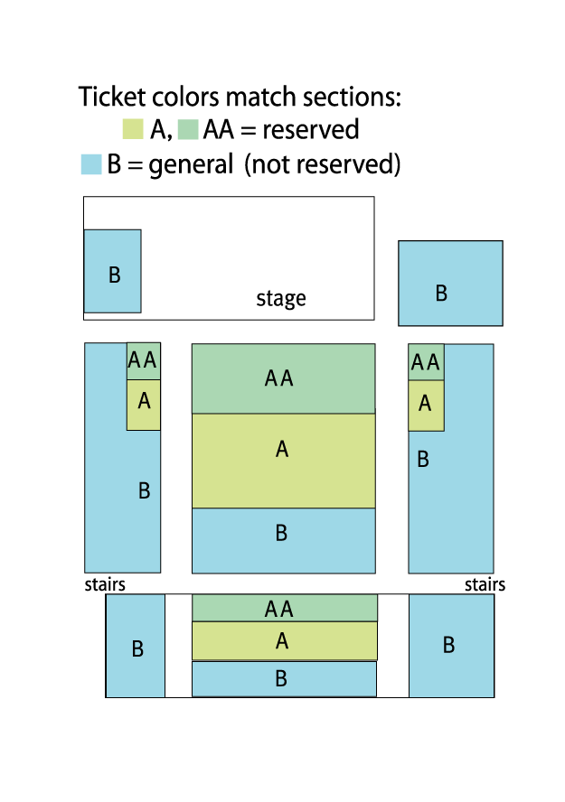 Seating Chart for First Church Congregational