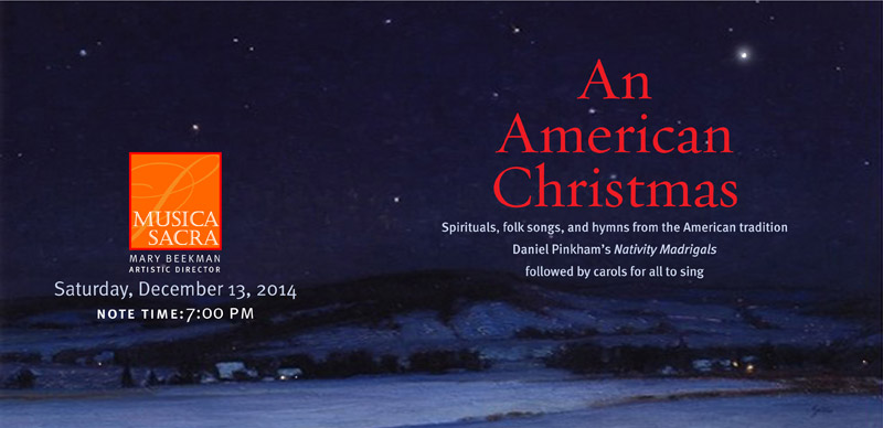 An American Christmas, Saturday December 13, 2014 at 7:00 PM