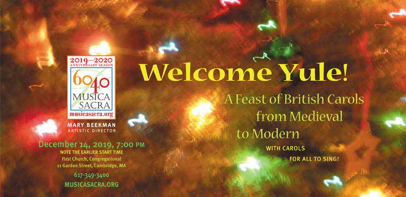 Welcome Yule, Saturday December 14, 2019 at 7:00 PM