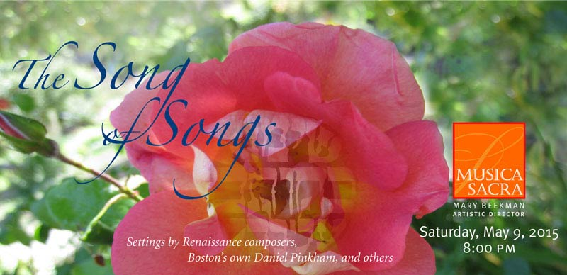 The Song of Songs: Sensual texts from the Bible's raciest Book, Saturday May 9, 2015 at 8:00 PM