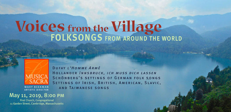 VOICES FROM THE VILLAGE: FOLKSONGS FROM AROUND THE WORLD, Saturday May 11, 2019 at 8:00 PM